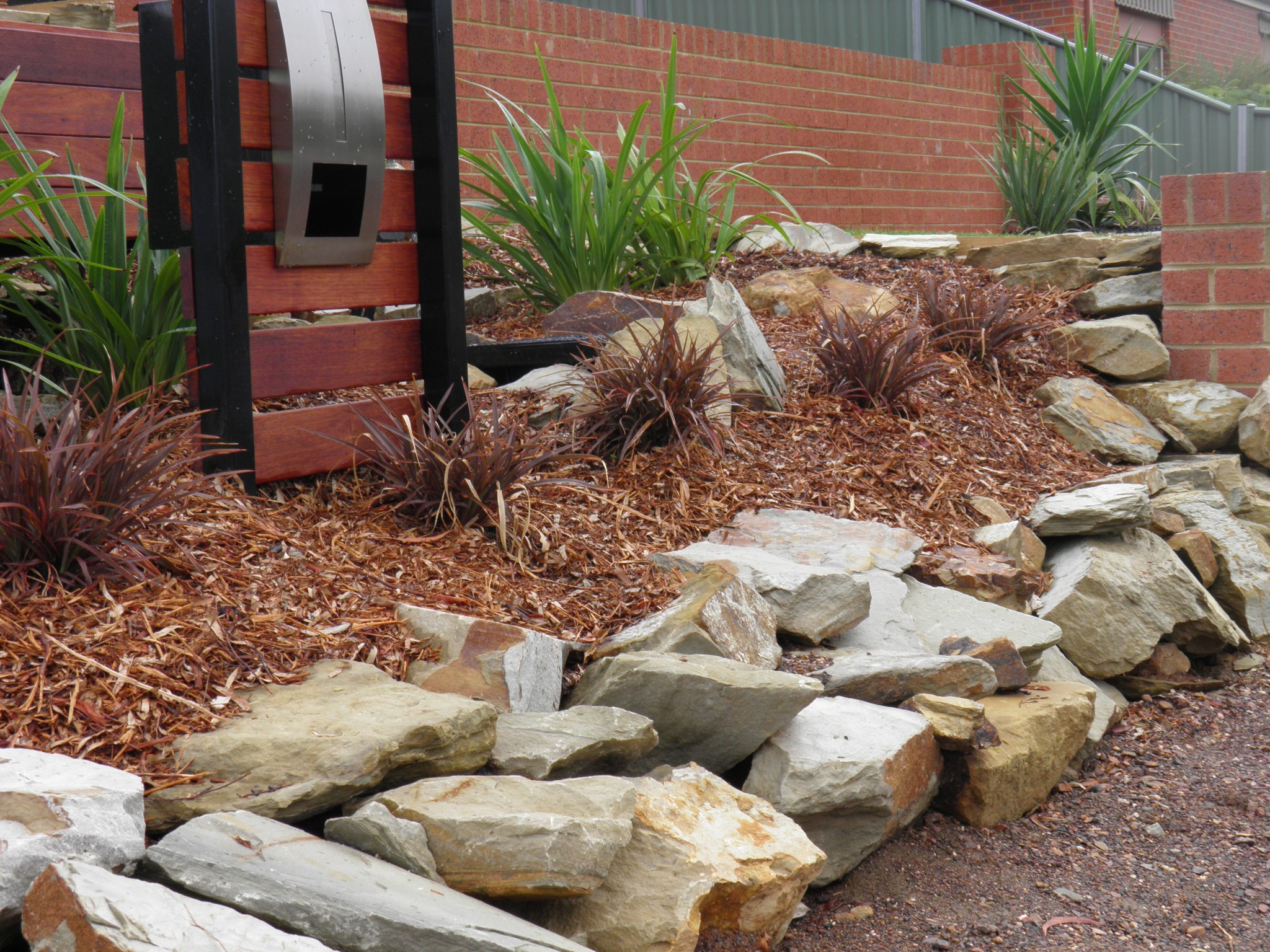 sandstone landscaping rocks castlemaine landscaping with