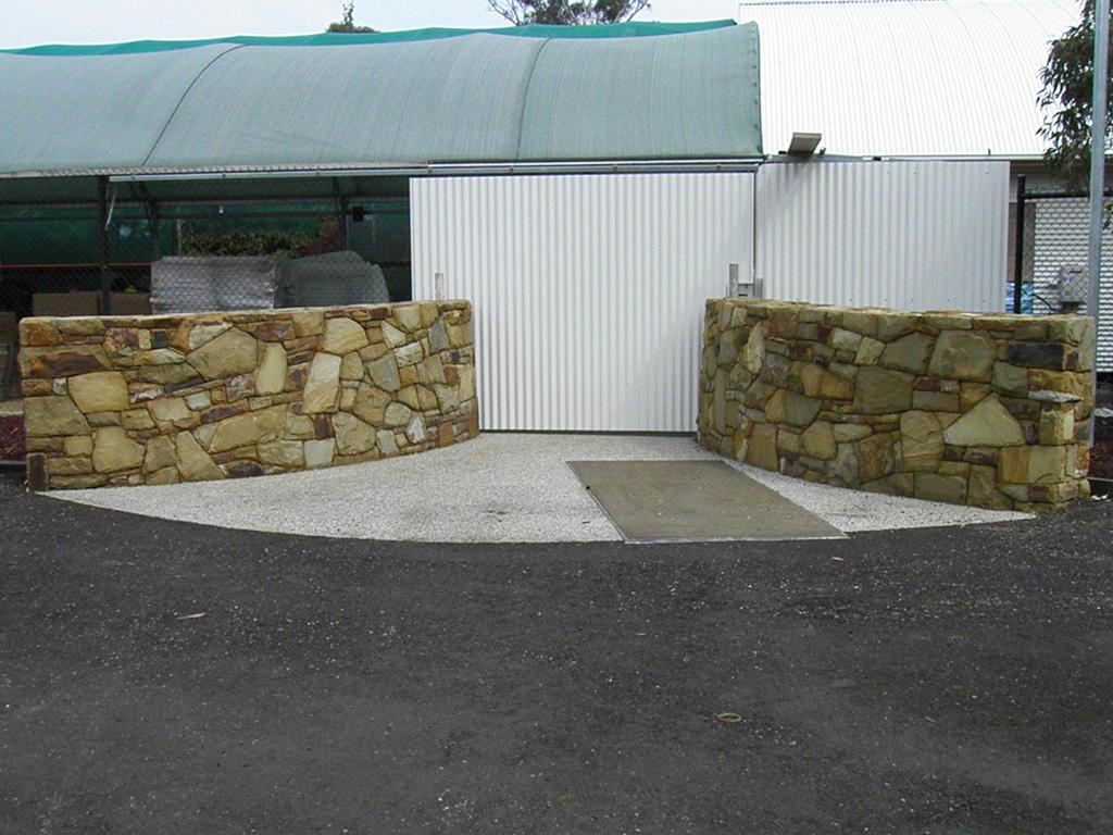 landscaping rocks gisborne refurbished with rust slate